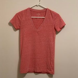 J. CREW Speckled Cotton V-Neck Tee T-shirt Top XXS